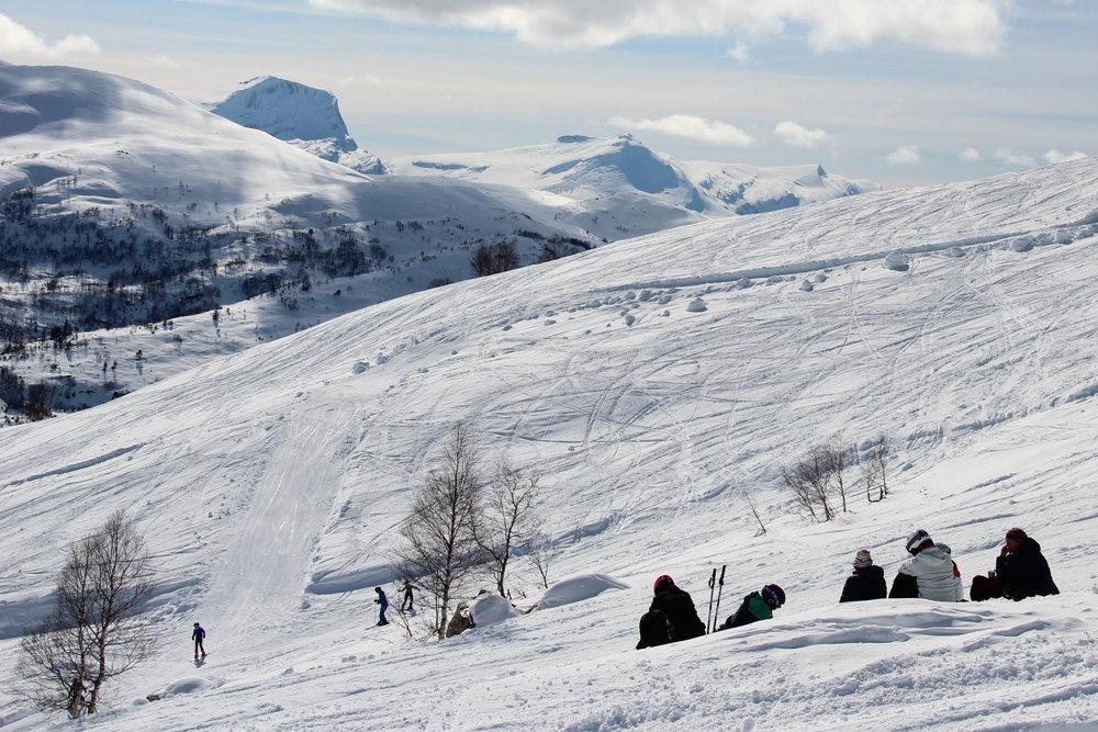 Det var flotte forhold på Harpefossen skisenter i påsken.  - © Siri Lund
