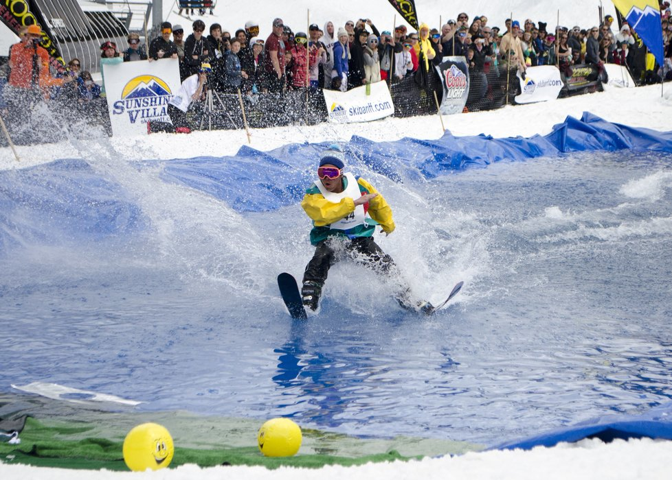 Sunshine Village lays claim to the oldest pond skimming in North America. - © Sunshine Village