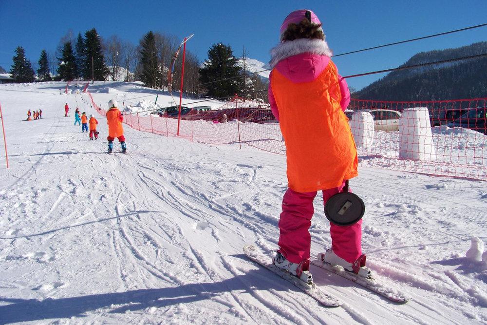 Le fil neige de Saint Jean de Sixt, le lieu idéal pour découvrir les joies de la glisse - © OT Saint Jean de Sixt