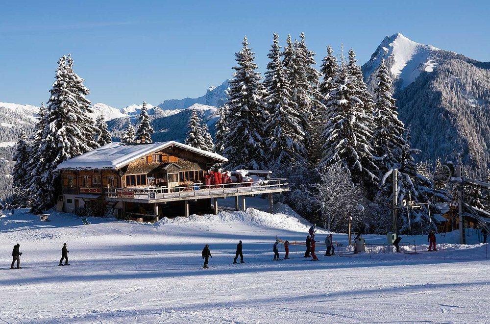 Sur les pistes de ski de Saint Jean d'Aulps - © Office de Tourisme de St Jean d'Aulps