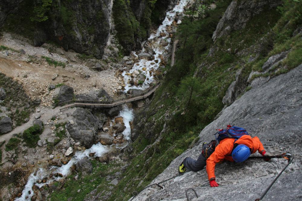 Im Rosina-Klettersteig - ©Bergleben.de