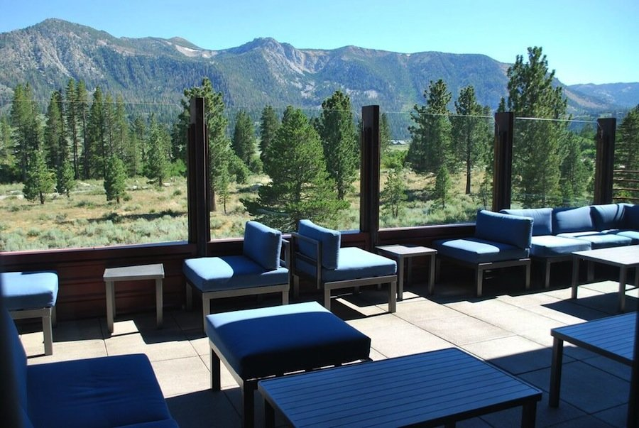 Step into the Sky Lounge at Mammoth Rock Brasserie for fine dining and a bird's-eye view of the mountains that make Mammoth Lakes so beautiful. - ©Lara Kaylor