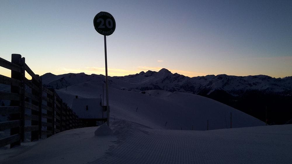 Fin de journée sur le domaine skiable du Mourtis - © Régie du Mourtis