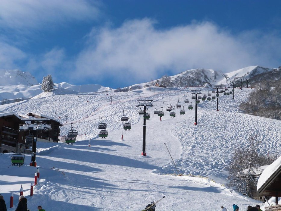 Au départ des pistes de ski de Valmorel - © OT de Valmorel