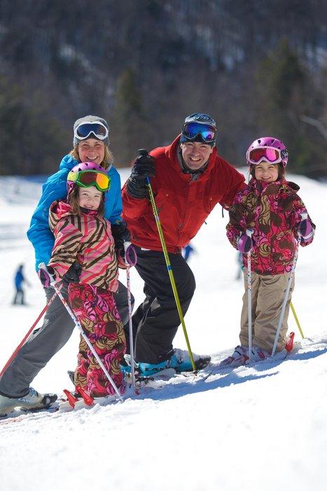 Skiing at Cranmore, NH.