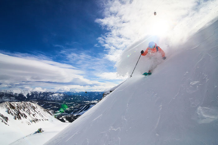 This is Big Sky Resort, where 400 inches of annual powder fall on 5,800 skiable acres and 4,350 vertical feet. - © Ryan Day Thompson