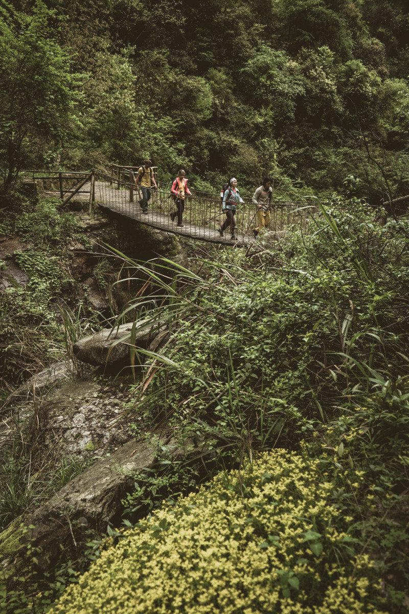 Die vier Kletterer im Qingfeng Valley - © adidas outdoor | Franz Walter