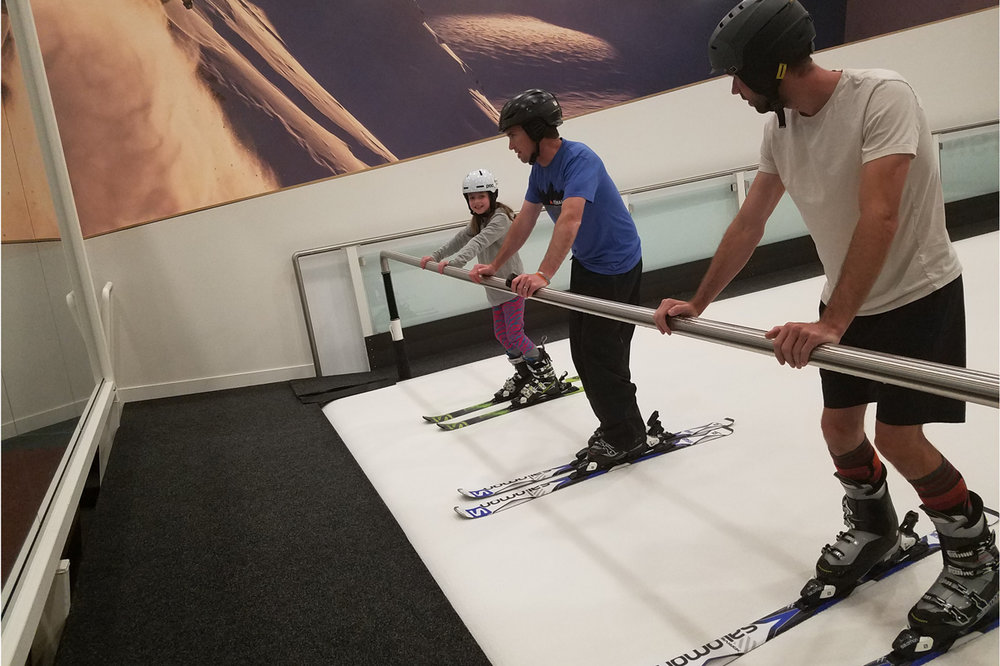 Intro drills at SNÖBAHN, a new indoor ski facility in Denver. - © Heather B. Fried