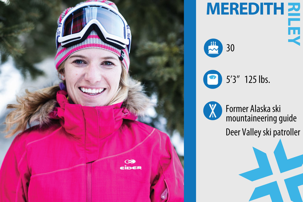 "Meredith Riley. Job in real life: U.S. Sales and Brand Manager, SOS sportswear. First ski memory: ""Trying to keep up—or beat my two older brothers. If they skied the upper mountain at age 7, I was going to do it at 6. If they skied the bowl at 9, I was determined to ski it at 8."" - © Liam Doran"