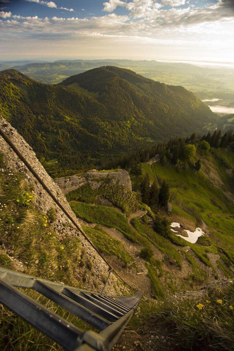 Nagelfluh: Die Leiter kann auch umgangen werden - © Erika Spengler