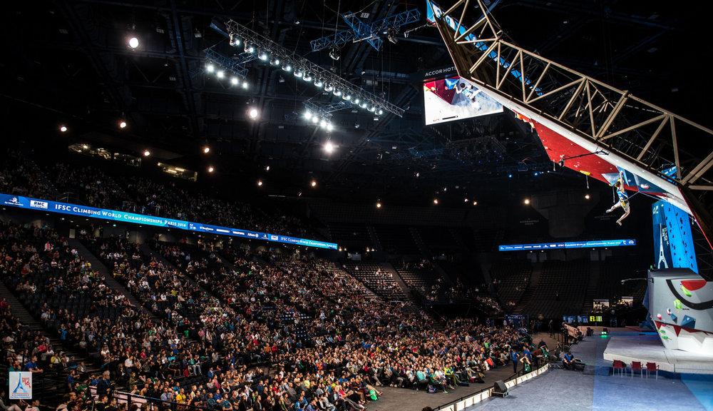 Tolle Zuschauerkulisse bei der WM - ©FFME/Agence Kros - Remi Fabregue