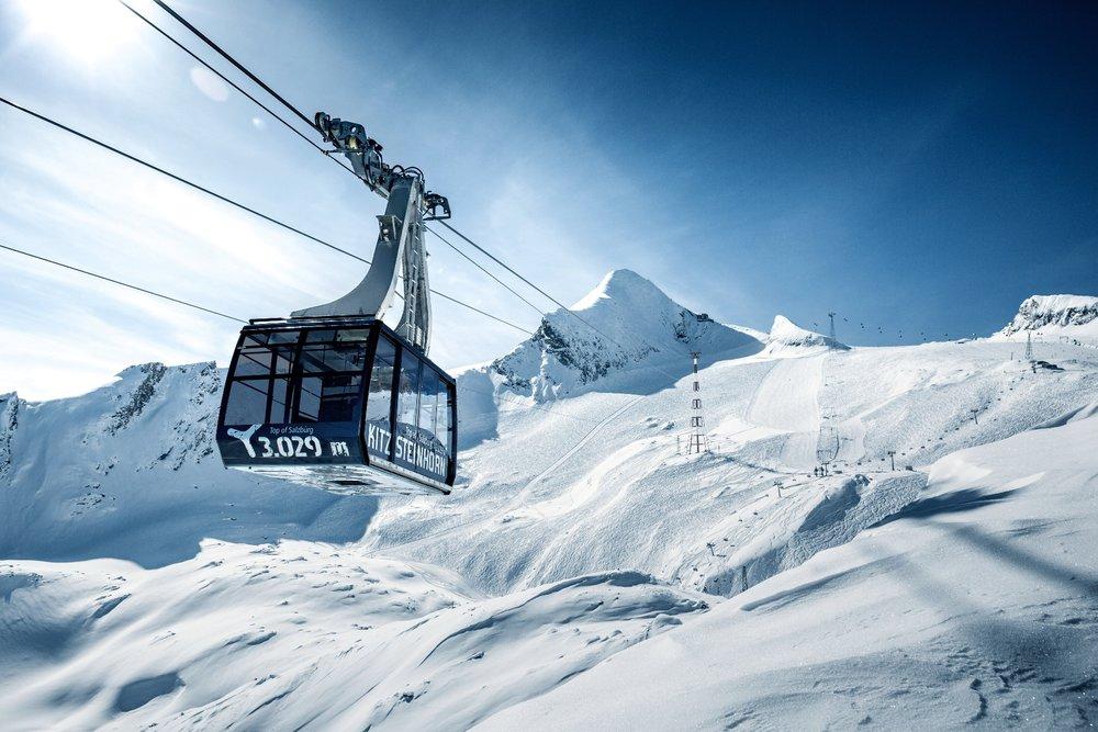 Blick auf die Gondelbahn am Kitzsteinhorn - © Gletscherbahnen Kaprun AG