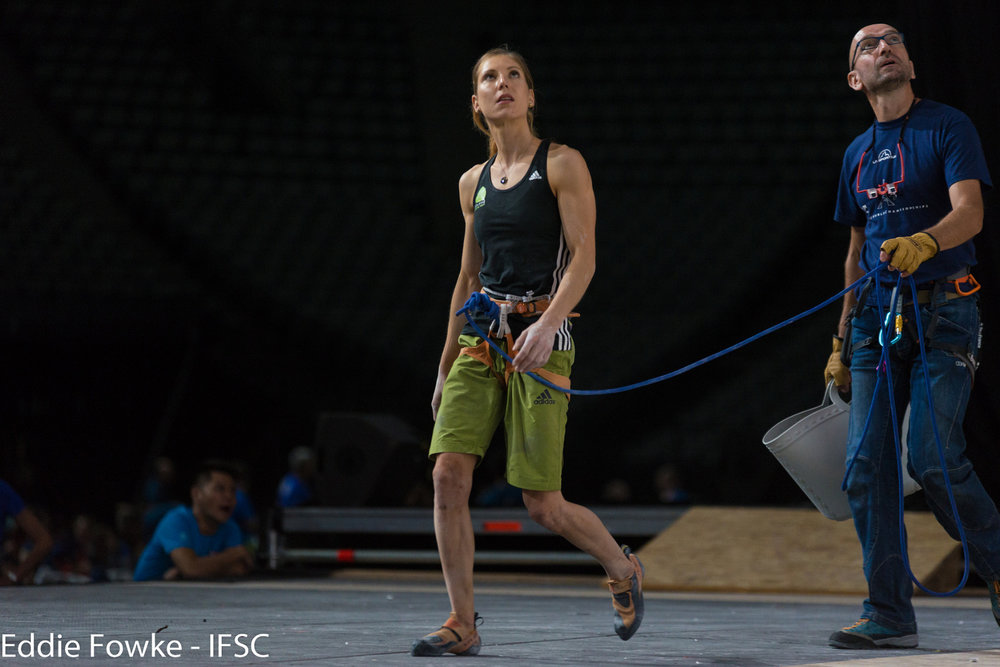 Mina Markovic holte im Lead Bronze - © (c) FFME/Agence Kros - Remi Fabregue