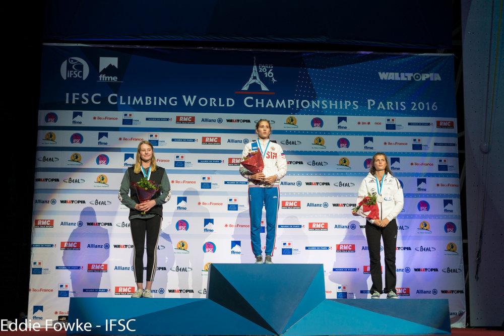 Podest der Damen in der Kombination - © IFSC / Eddie Fowke