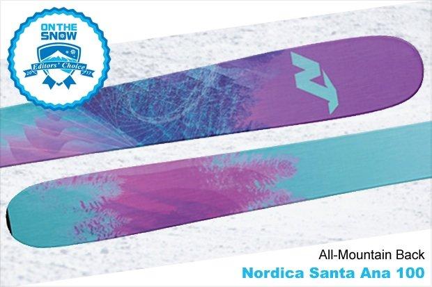 Nordica Santa Ana 100, women's 16/17 All-Mountain Back Editors' Choice ski. - © Nordica