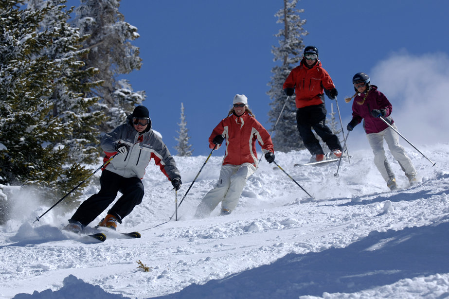 Ski clinic at Steamboat, CO.