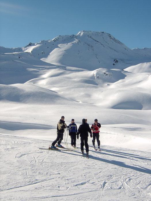 Skiers at Unterbäch, © Bürchen-Unterbäch Tourismus