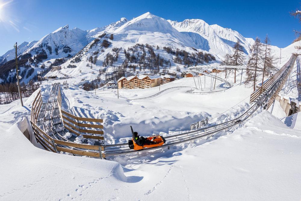 la piste de luge sur rail « Verdon Express » de Val d'Allos la Foux - © Office de tourisme du Val d'Allos / R. Palomba