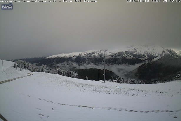 Presolana neve fresca 10 Ottobre 2016 - © Presolana webcam