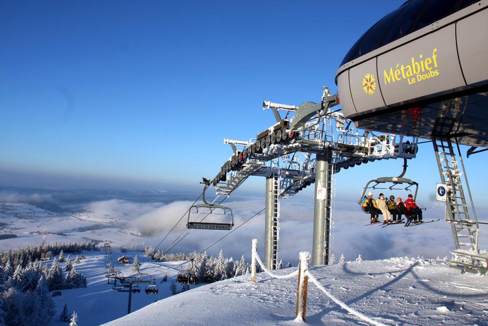 En route pour les pistes de ski de Métabief - © Station de Métabief