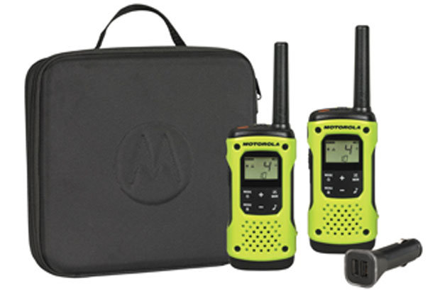 Motorola Talkabout T600 H2O Series: See website for pricing: Keep in touch with your loved ones with this fully waterproof walkie-talkie from Motorola. With a 35-mile range, the Talkabout T600 H2O Series is perfect for your on-mountain activities. Features include a built-in flashlight, 22 channels and 20 call tones.