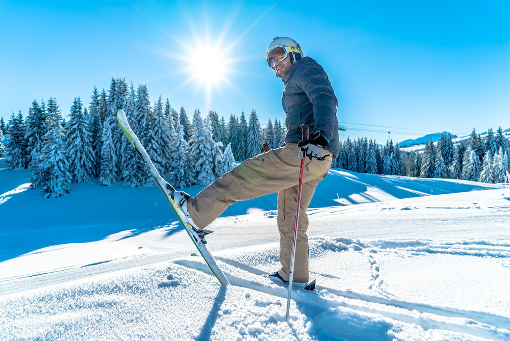Conditions de ski idéales (neige fraiche et soleil généreux) sur les pistes de Crest-Voland Cohennoz - © Labellemontagne Crest-Voland Cohennoz
