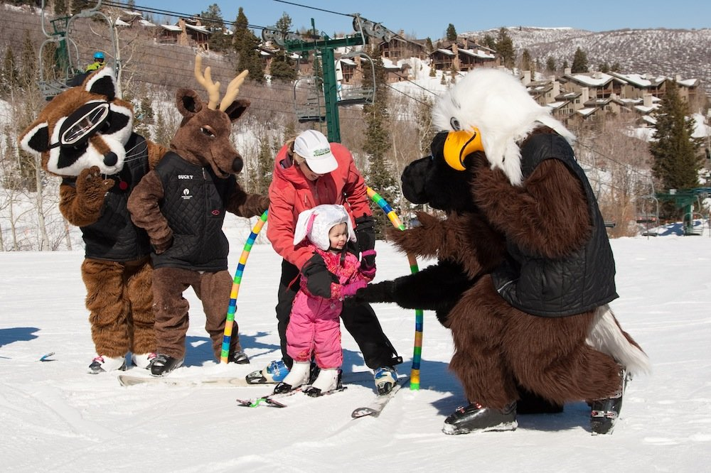 This costume is mighty hot, but the kids are happy, so it's all good. - © Deer Valley Resort
