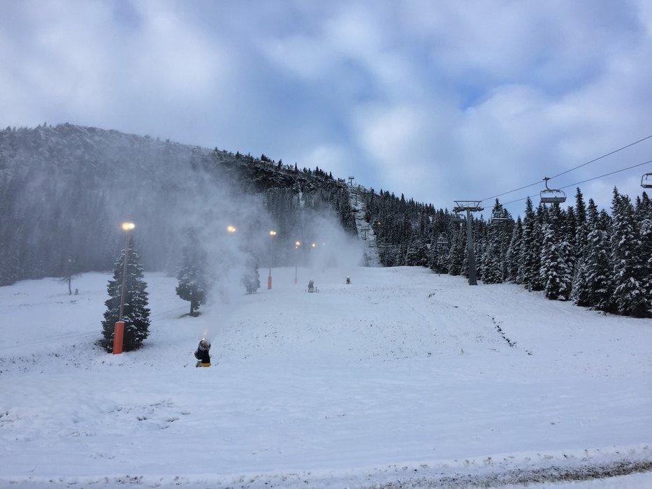 Endelig har snøen kommet til Kvitfjell. - © Kvitfjell Alpinsenter