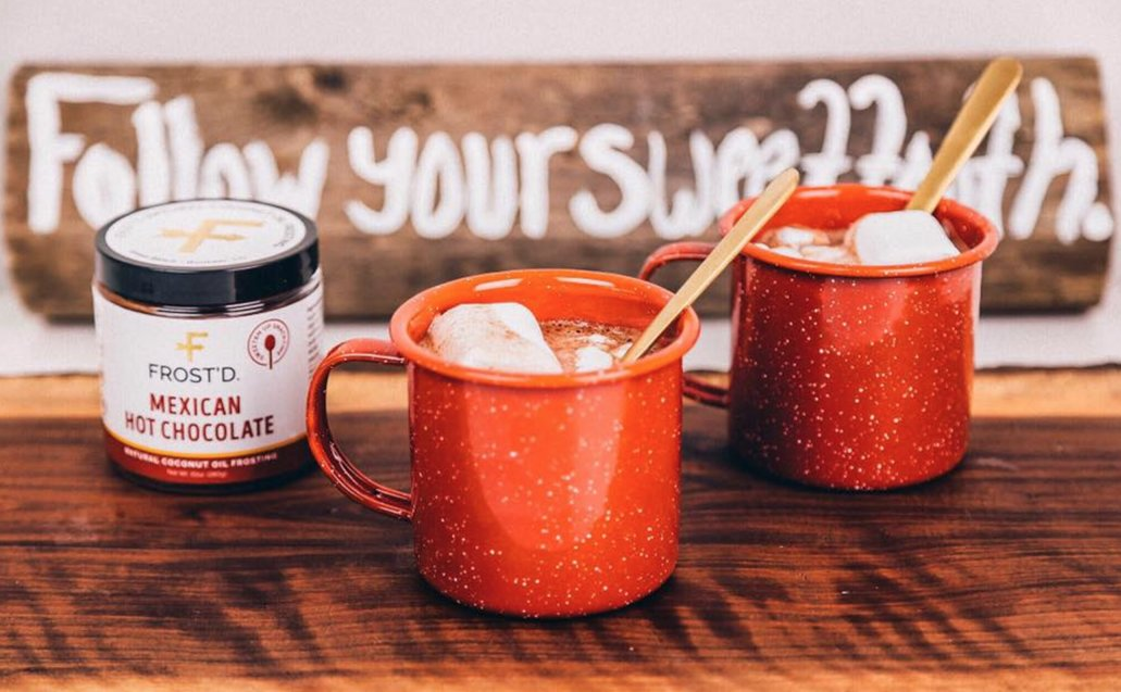 FROST'D Mexican Hot Chocolate: $9 If your family is a fan of cinnamon and bittersweet cocoa, then you'll want to pick up a can of this ultra-tasty hot cocoa. Pair with pancakes and apples for a memorable morning treat. (photo credit: Josh Vertucci)