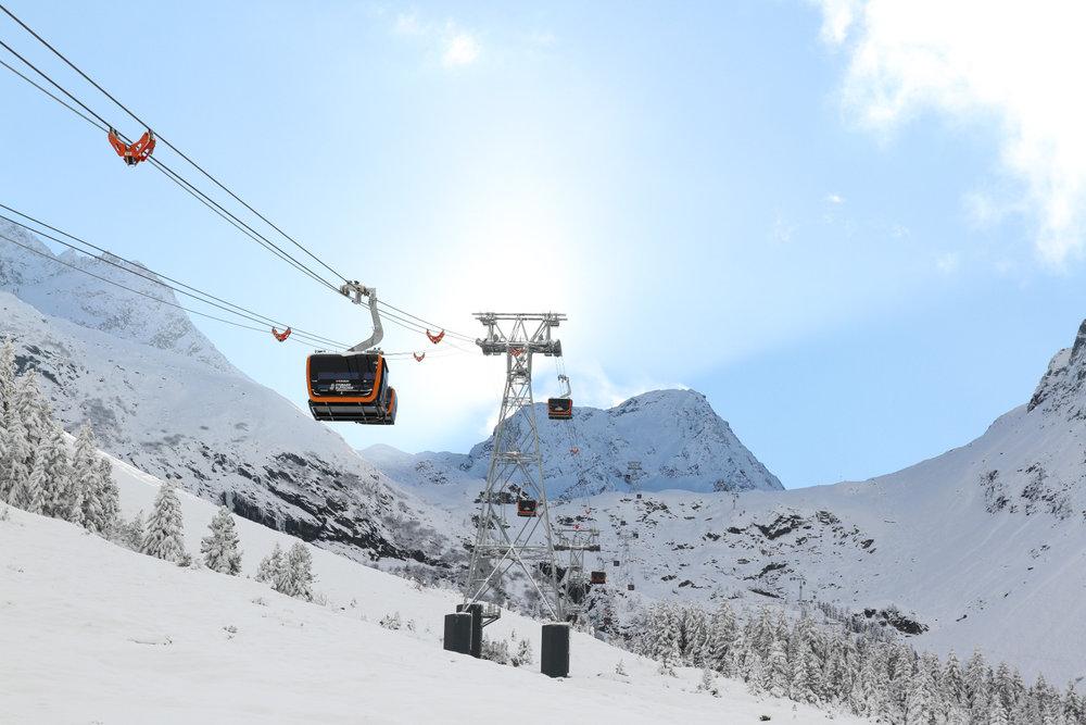 Die neue 3S-Eisgratbahn am Stubaier Gletscher - © Skiinfo