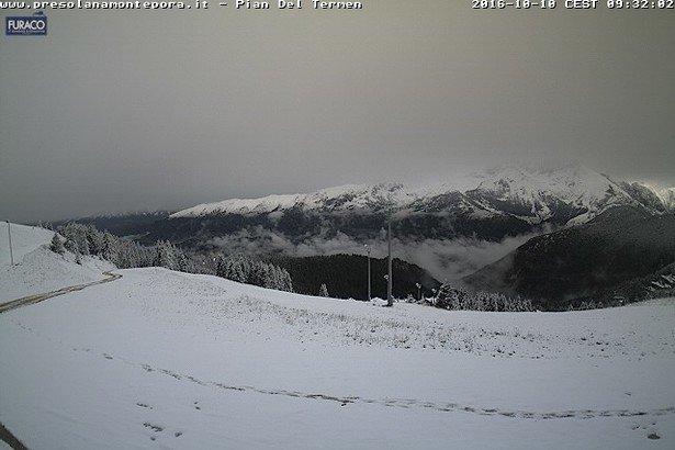 Presolana neve fresca 10 Ottobre 2016 - © Presolana webcam