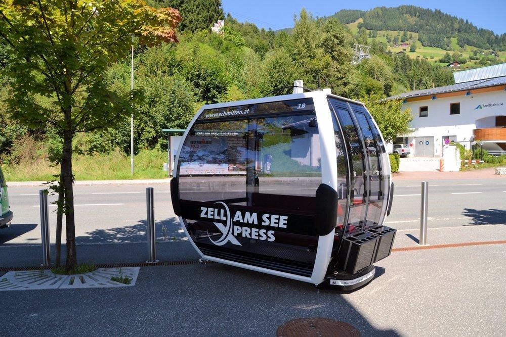"""Lanovka """"Zell am See Xpress"""" ponúkne cestujúcim bezplatné bezdrôtové pripojenie, ako aj svetovú novinku v podobe šiestich jukeboxových gondol - © Schmittenhöhebahn"""