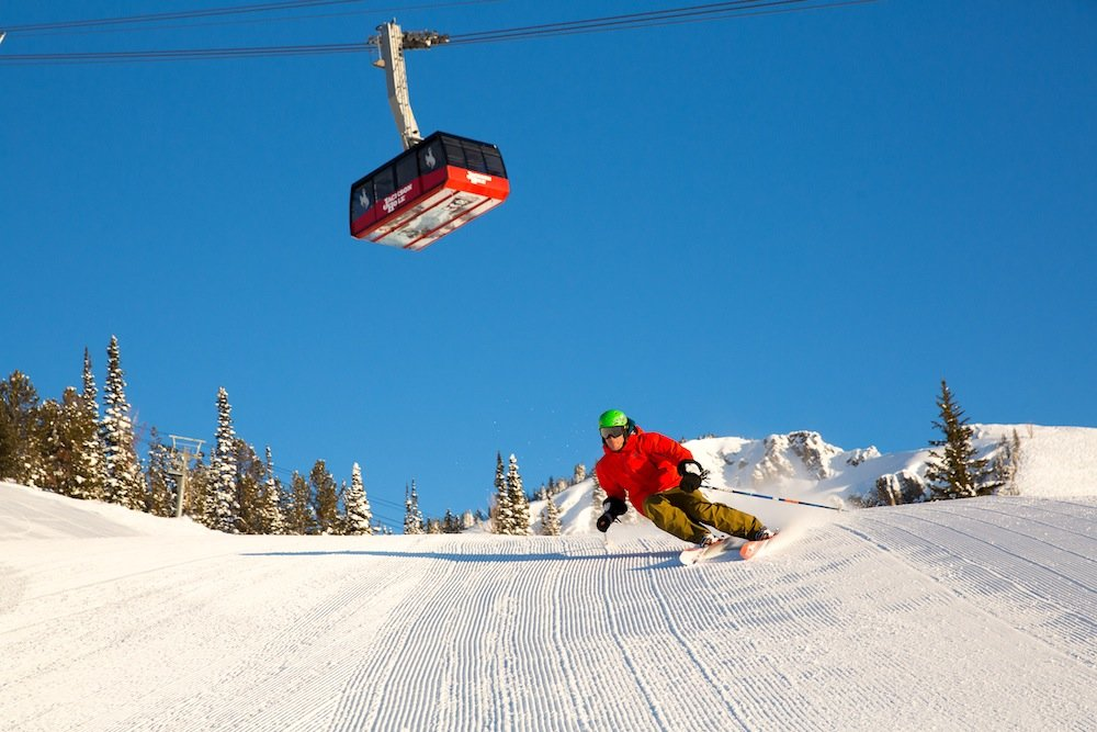 Lord of the groomers taking a leisurely lap. - © Jackson Hole Mountain Resort