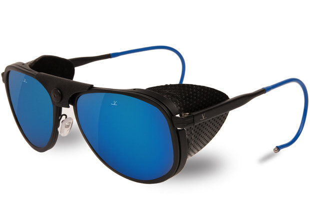 "Vuarnet Glacier 1957 Limited Edition sunglasses: $600 Never lose a stare down again with these 60th anniversary sunnies, of which only 600 pieces were made. The matte black metal and acetate frames combine with the ""punched"" leather make this pair vintage cool."
