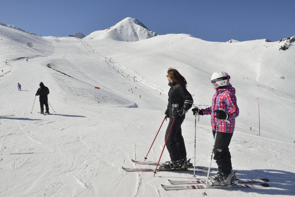 Sur les pistes de ski de Val Louron - © Confédération Pyrénéenne du Tourisme