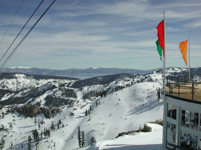 A scenic view of Squaw Valley Resort, California