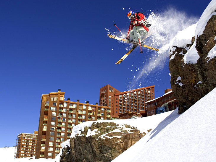 Freeskier at Valle Nevado, Chile.