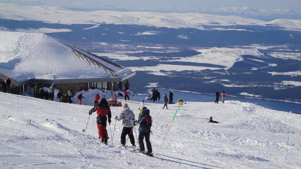 Visitors to Cairngorm, Scotland