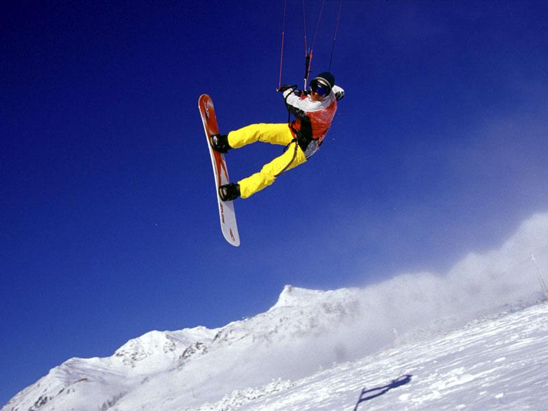 Snowkiten in Obertauern  - eine neue Sportart erleben