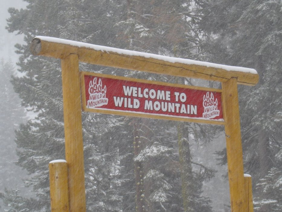 A view of the welcome sign to Wild Mountain in October, 2007 at Sierra-at-Tahoe, California