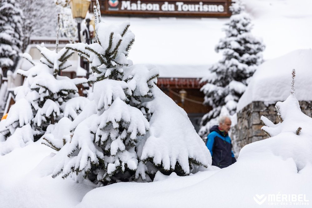 40cm of snow in Meribel (28.1.19) - © Meribel/Facebook