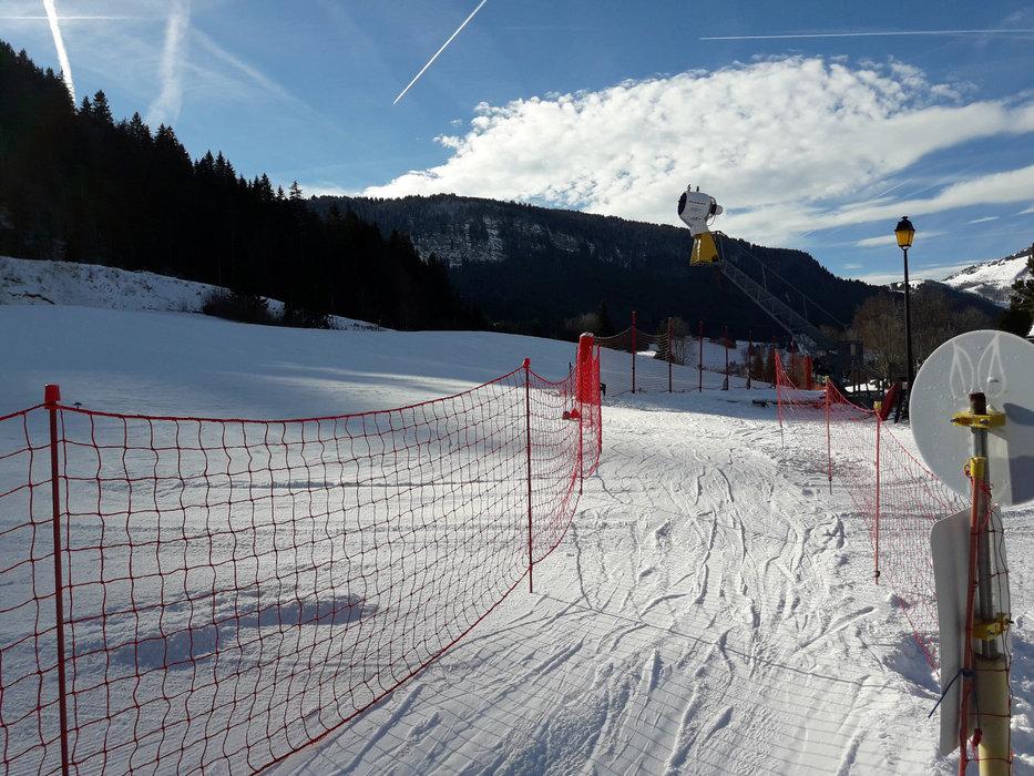 Le front de neige de Mont Saxonnex - © Station de MONT SAXONNEX