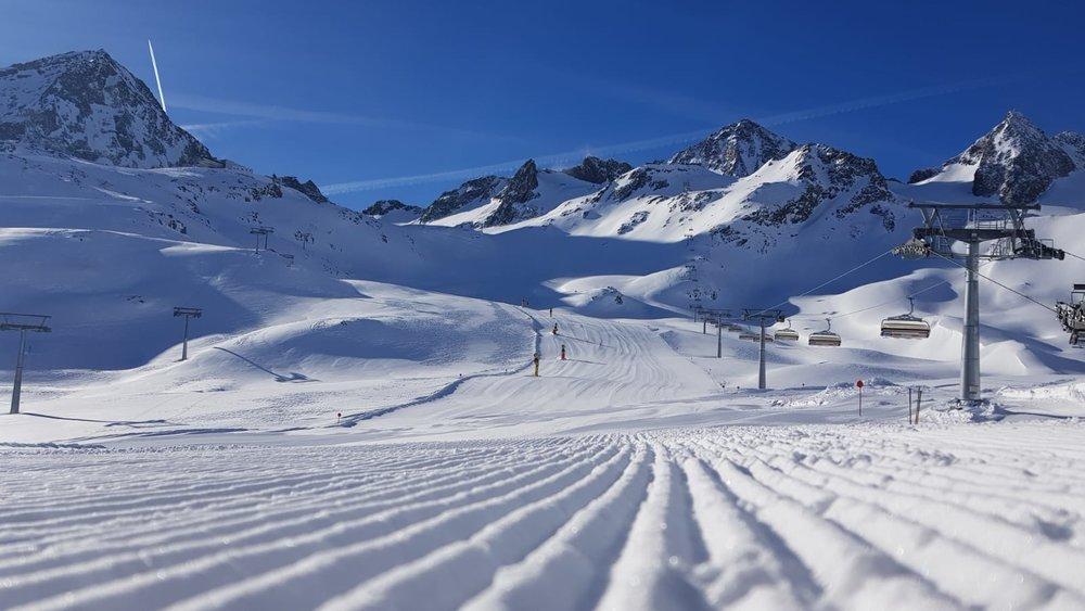 Tolle Bedingungen am Stubaier Gletscher - © Stubaier Gletscher