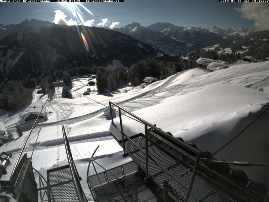 Bergstation im Skigebiet Kristberg Silbertal - ©  Montafoner Kristbergbahn Silbertal GmbH