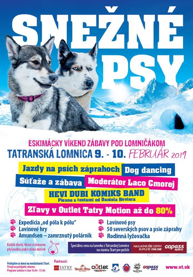 Snežné psy v Tatranskej Lomnici - © TMR, a.s.