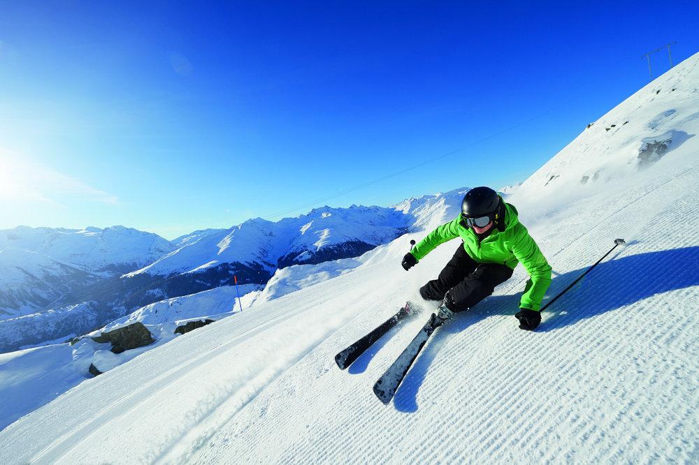 Skifahren in Disentis - © SkiArena Andermatt-Sedrun-Disentis