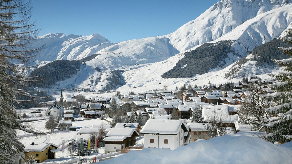 Sedrun Winterlandschaft - © SkiArena Andermatt-Sedrun-Disentis