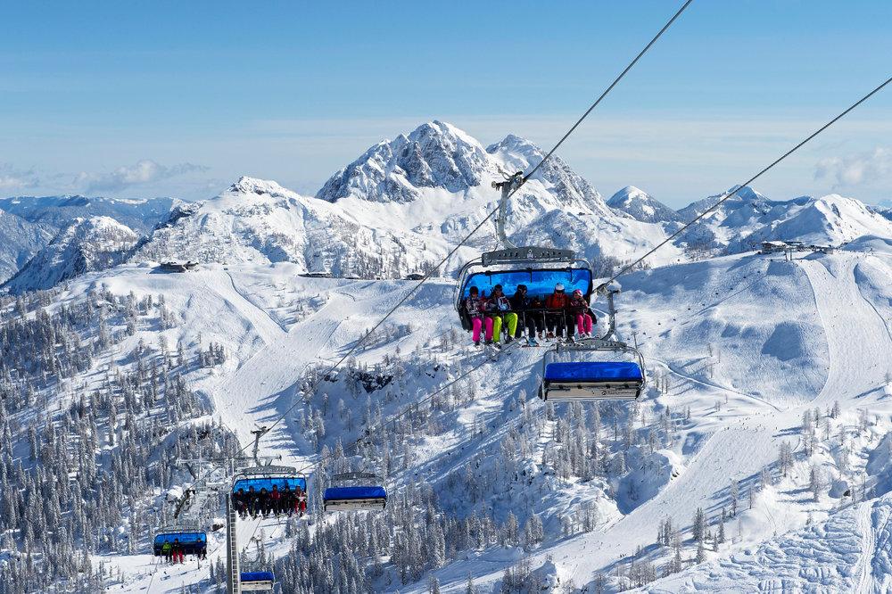 Sessellift im Skigebiet Nassfeld  - © © nassfeld.at