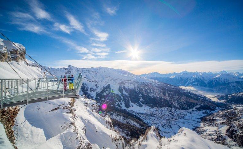 Aussichtsplattform Gemmi-Bahnen Leukerbad - © Leukerbad Tourismus
