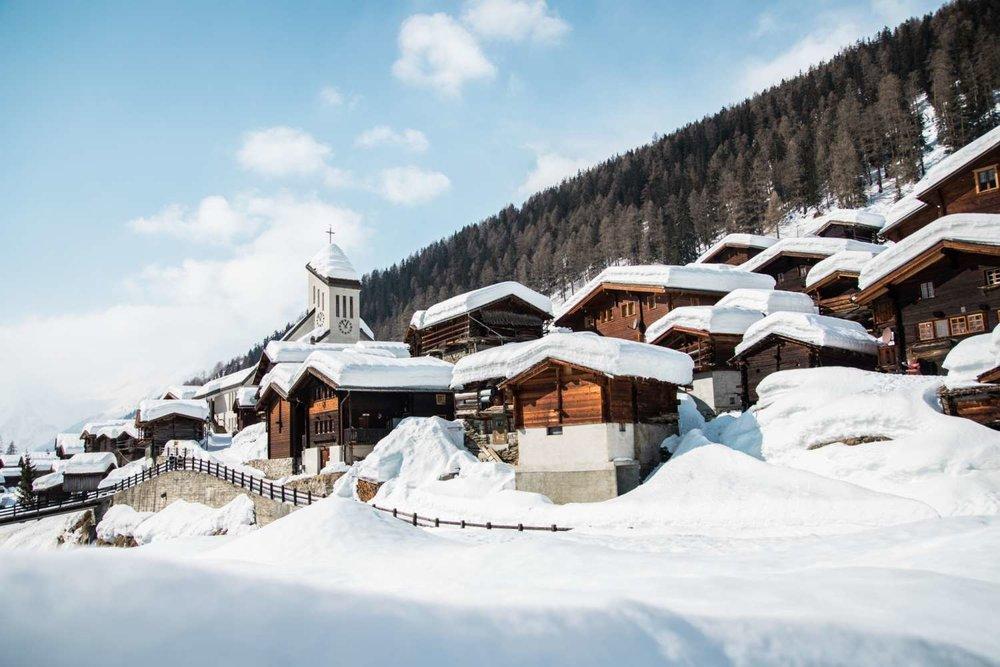 Das Lötschental im Wallis gilt als eine der schneereichsten Regionen in der Schweiz - © Lötschental Marketing AG